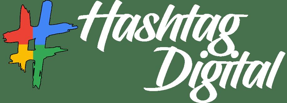 hashtag logo white